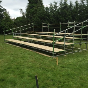 Terraced event scaffolding seating by Connect Scaffolding Services Thame Oxfordshire