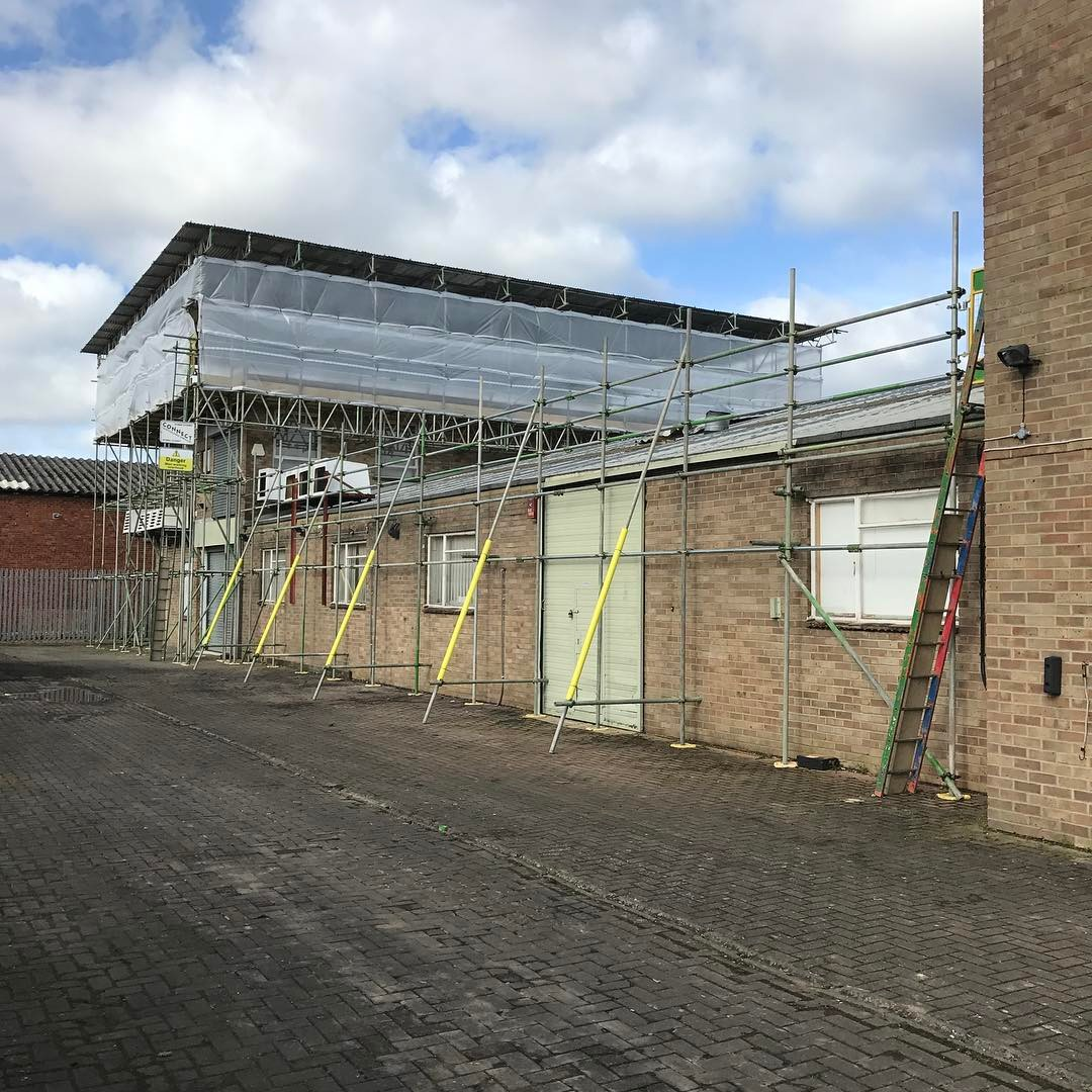 commercial scaffolding in Thame