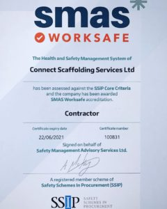 We are proud to announce that we have achieved our SMAS Accreditation at @connectscaffold. Health and safety is always paramount to us and our clients.  #smas #smasaccredited #healthandsafety #scaffolding #scaffold #scaffolder #connect #connectscaffolding #scafflife #construction #industry #instagood
