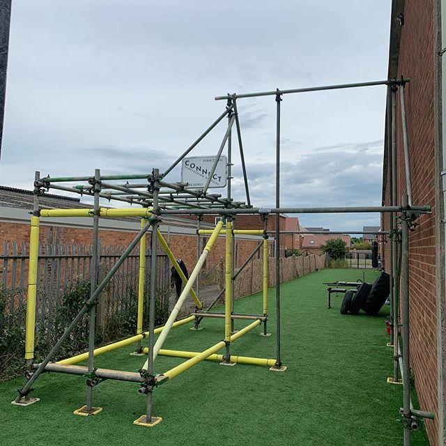 Scaffold gym frame for Invictus Gym