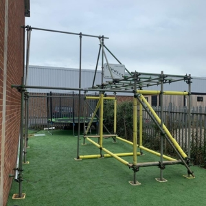 Scaffold gym frame for Invictus Gym