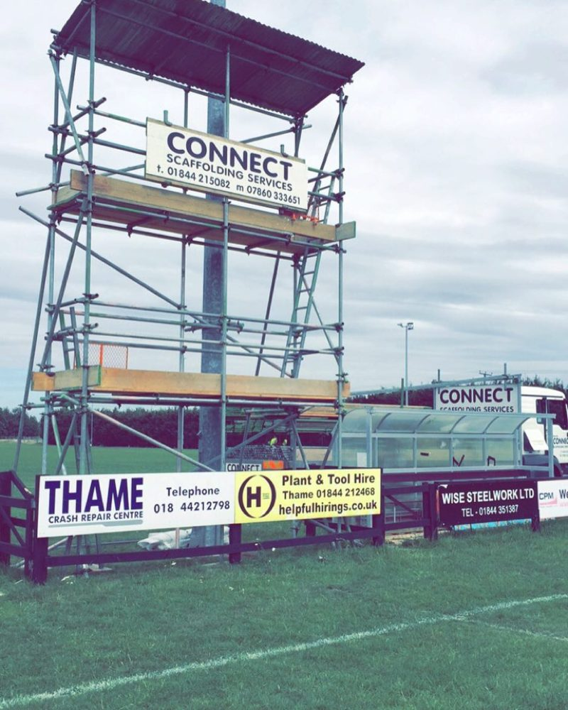 Rugby club event scaffolding by Connect Scaffolding Services of Thame